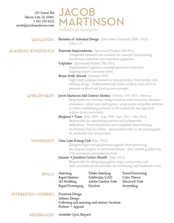 industrial design resume - Etame.mibawa.co